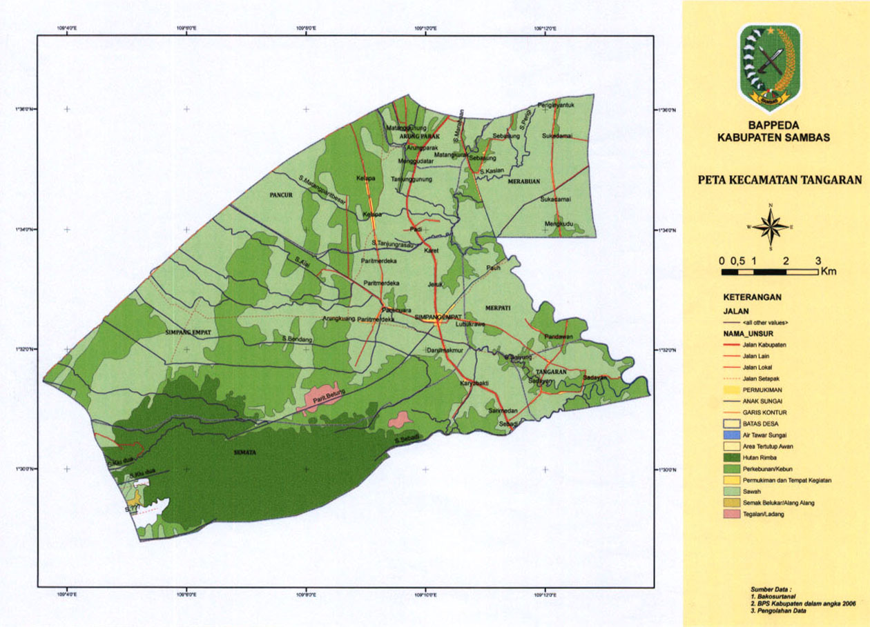 Peta Kecamatan Tangaran