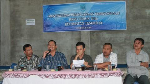 Musrenbang Kecamatan Tangaran Tahun 2015
